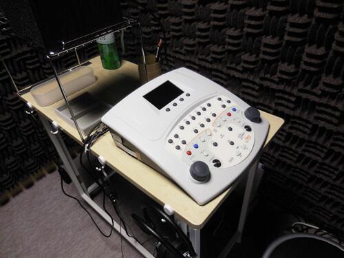 オージオメーター、耳の聞こえを測る機械