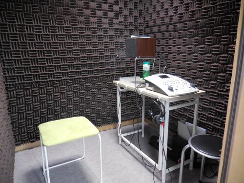 防音室の中は、このようになってます。