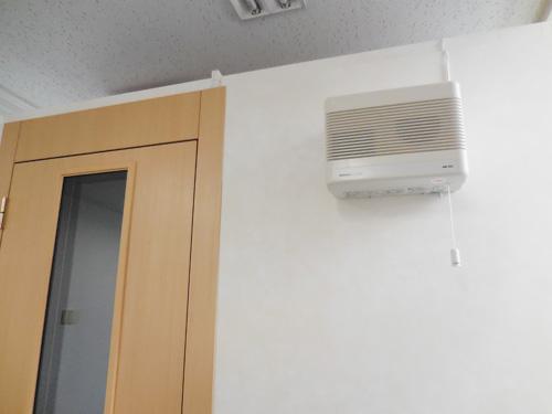 密閉性が強いため、換気扇もついています
