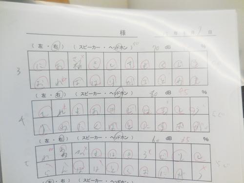 測定結果の例、こんな感じに答え合わせをして、正解率を見る