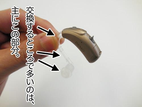 補聴器には、いくつか交換する部品があります。劣化した場合は、使いにくくなったり、聞きにくくなる前に交換し、良い状態にしていくことが大切です。