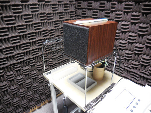 補聴器の場合、耳に装用するだけでは感覚のみしかわからない。そのため、客観的にどのように聞こえが補えているのか。それを見る測定もある。その一部が、音場域値測定となる。