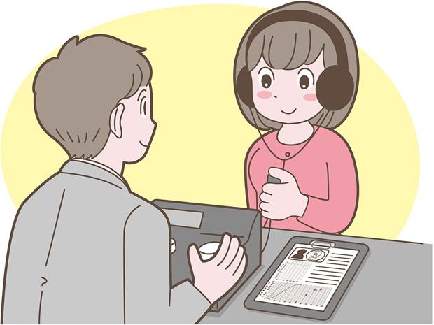 客観評価とは、補聴器を使用した状態を測定を使って調べ、どのくらい改善しているのかを見る測定です。測定類には、おおよそ、改善していると良い目標値がありますので、それと比較し、現状を把握していきます。