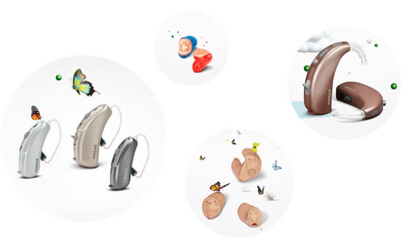 補聴器の種類は、そこまで多くないが、使いやすさを重視し、形もデザイン性を重視したものが増えてきた。