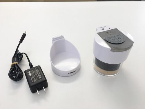 補聴器のケア用品の一つ、乾燥機器。こちらも結構変わってくると感じますね。